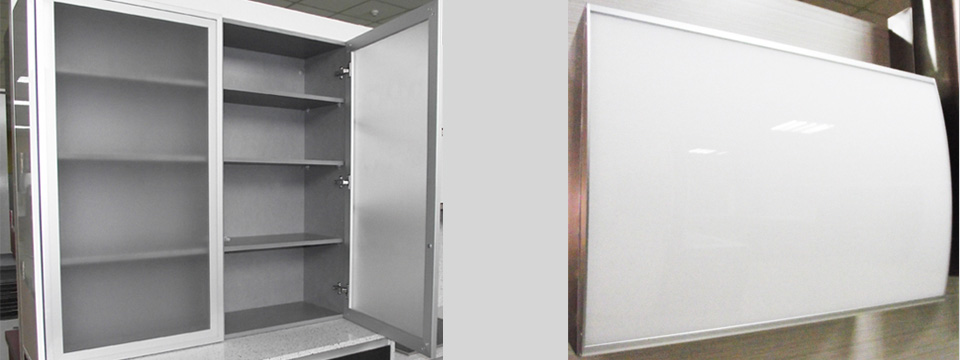 Vitrinas de aluminio puertas de aluminio l pez carrilero - Puertas de aluminio para cocinas ...